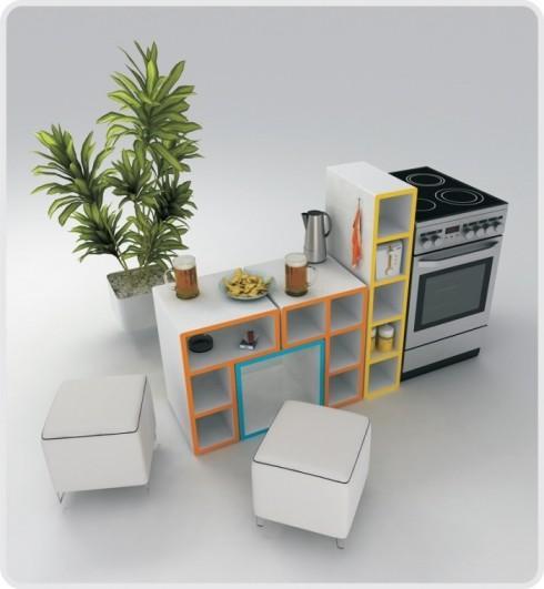 Direccin de Arte en Publicidad Tetris diseo de muebles