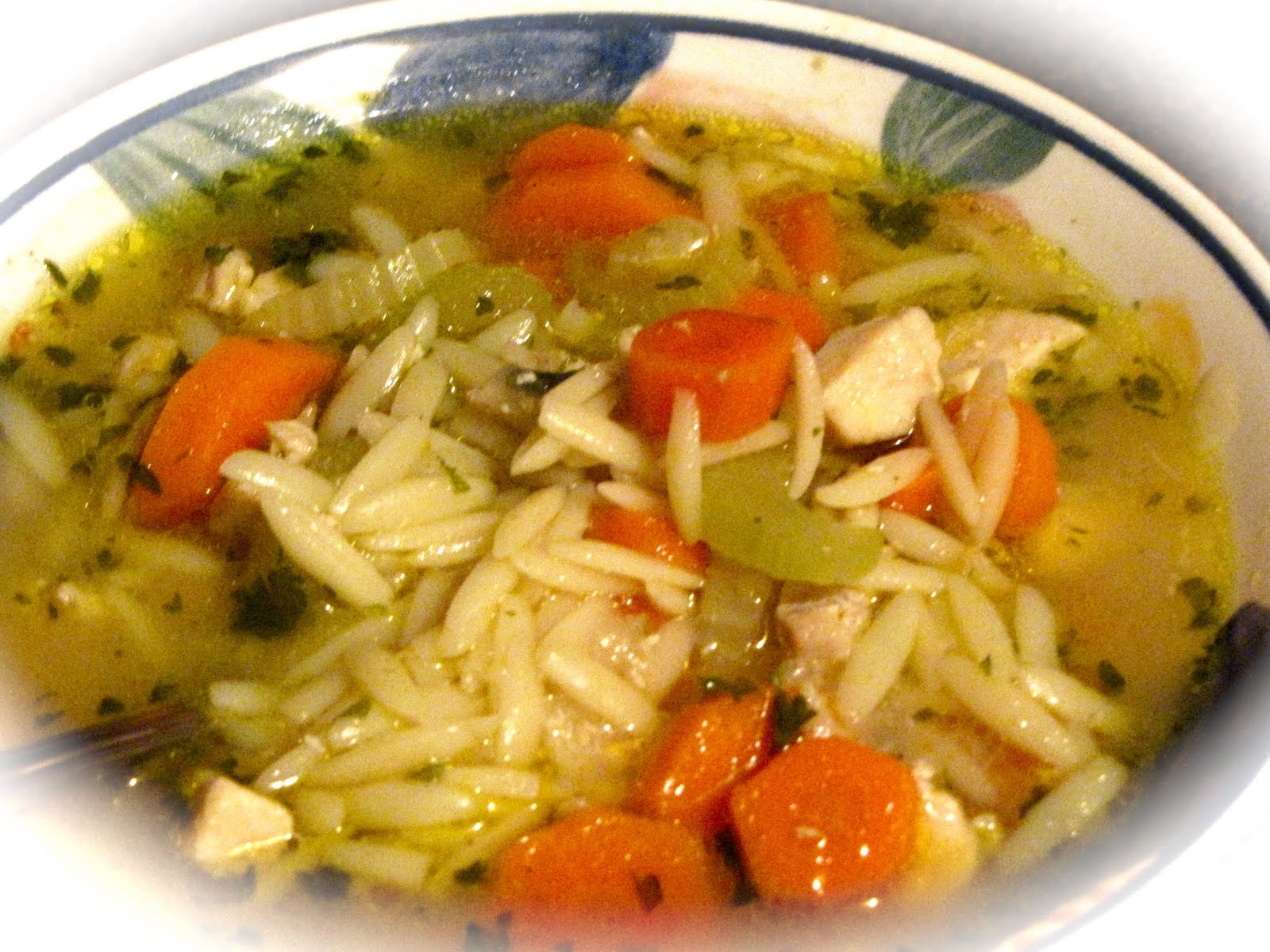From Jack and Jill's Kitchen: Orzo Chicken Noodle Soup