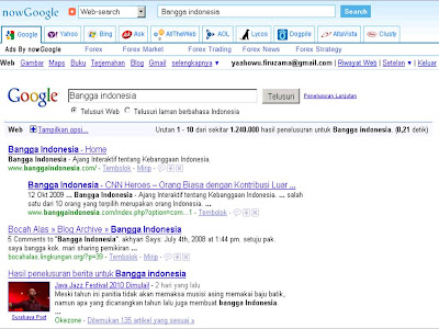 nowGoogle.com adalah Multiple Search Engine Popular