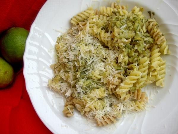 pasta con zucchine e limone