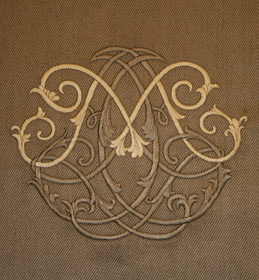 Villa Savoia Inc Custom Embroidered M Monogram For
