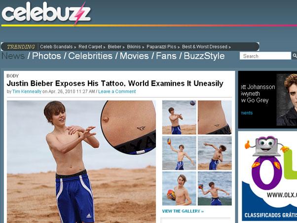 Tatuagem de Justin Bieber!!!