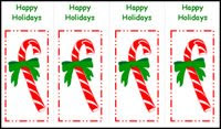Christmas bookmark printable