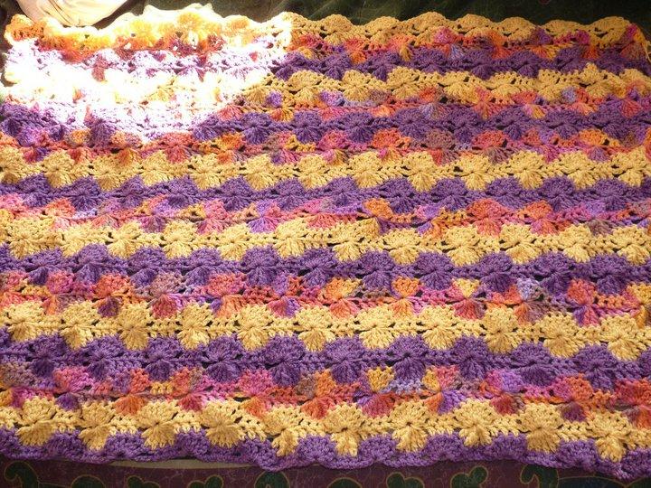 Crochet Jumbo Catherine Wheel Lap Blanket Jennifer Al Ghanem