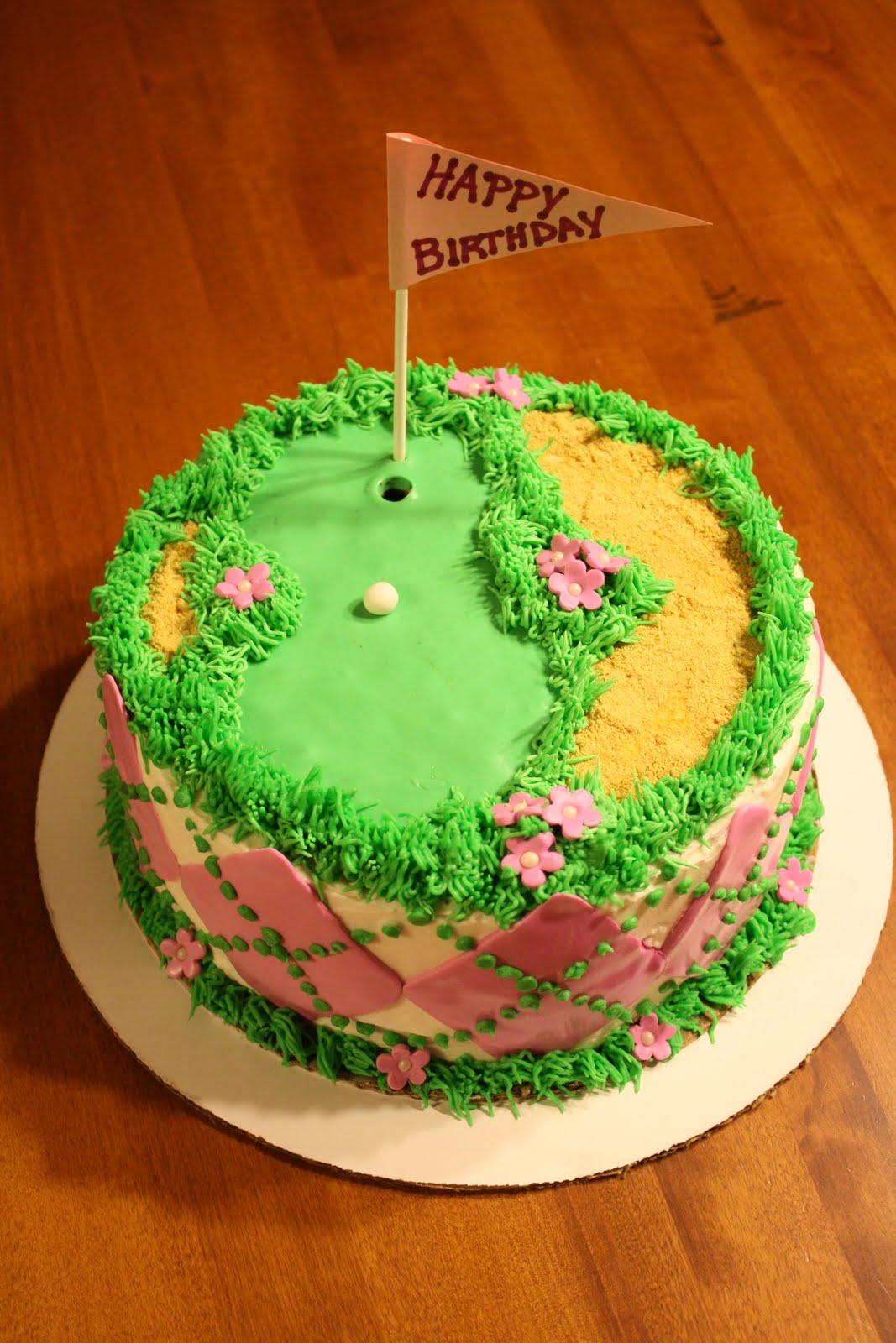 Sues Sweet Creations: Golf Theme Birthday Cake