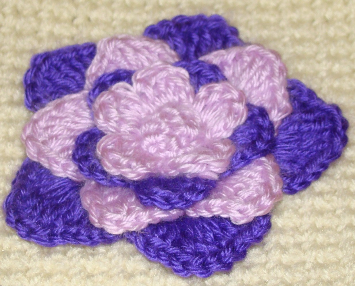 Crafts By Starlight Crochet Flowers Purple Water Princess