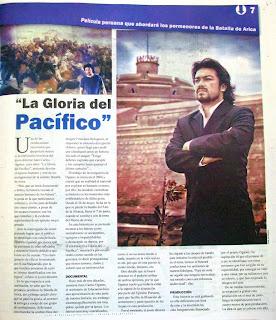 LA GLORIA DEL PACIFICO: FILM PERUANO SOBRE LA GUERRA DEL PACIFICO 1879 JC+Oganes+entrevista