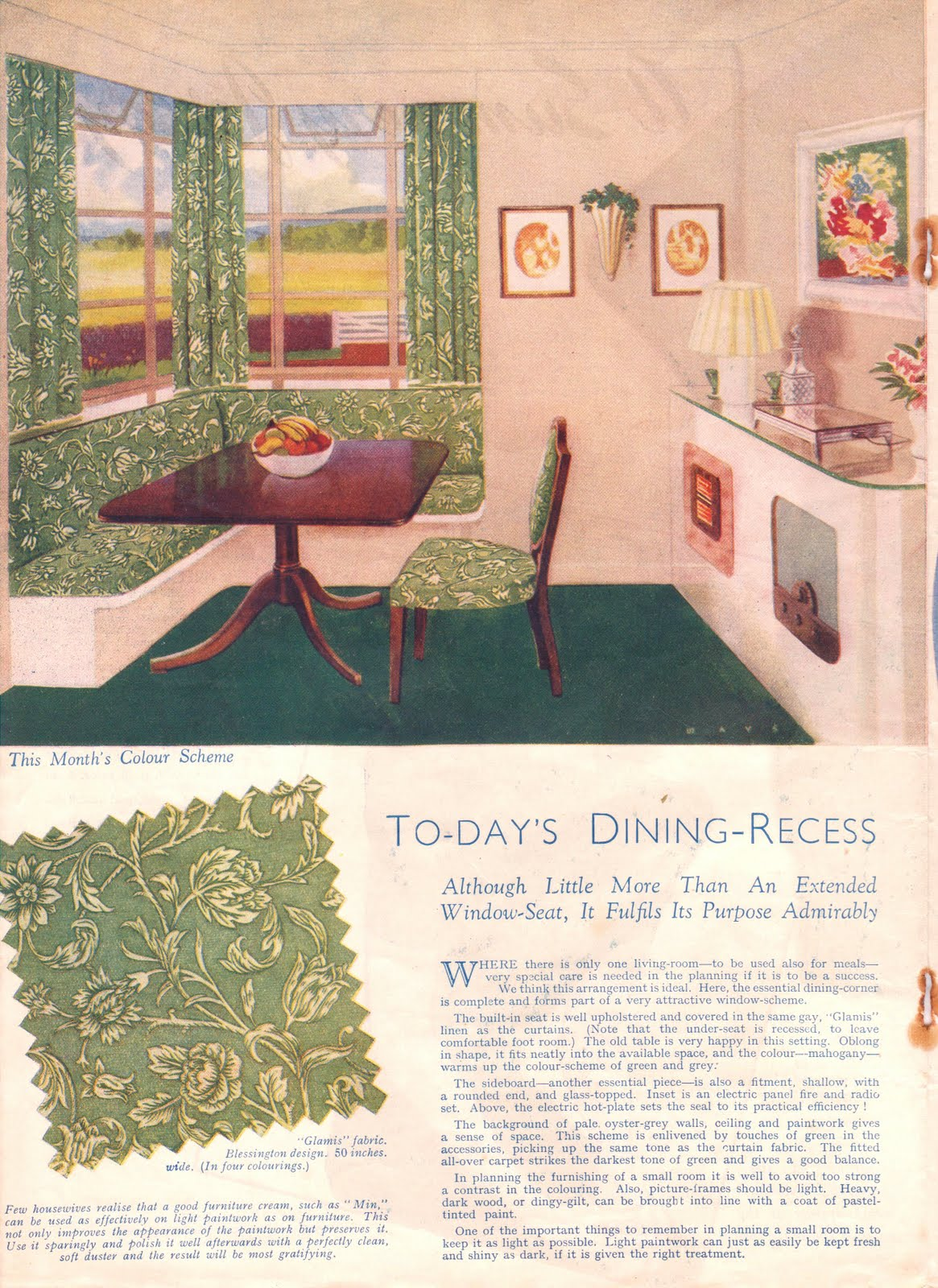 1940s and 1950s Home Interiors