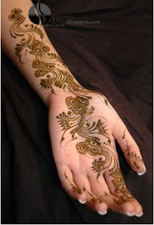Colorful mehndi for Hands and arms