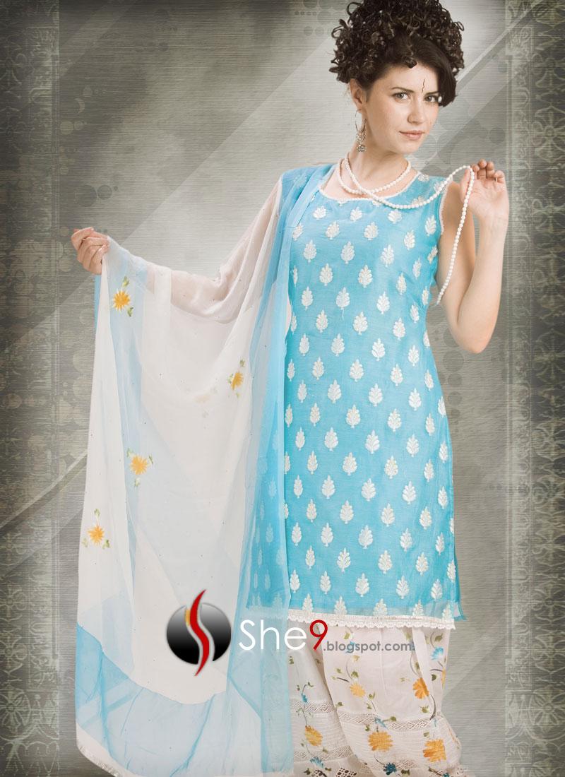 IndianSalwarKameezwwwShe9blogspotcom28129 - Blue fashipon dresses