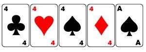 Jogadas de Poker, Quadra
