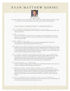 Post ministry resume