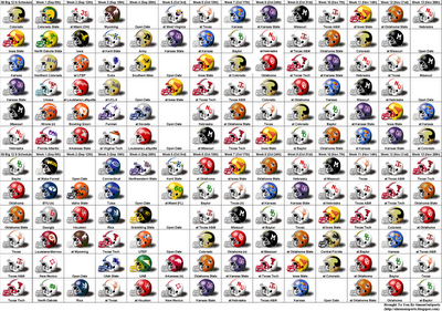 College Football Symbols College Football Schedule