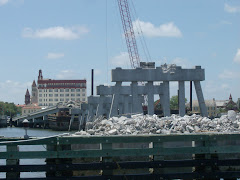 ...and the temporary bridge (used during restoration) is going away.