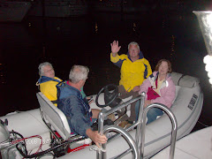 Heading back to the anchorage after a great evening.  Barb, Randy, Neil, Sheila