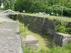 A section of the old Erie Canal--before motorized vessels were the norm.