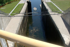 From the top of a double (48 feet) lock, our highest, so far!