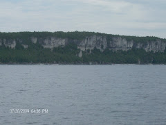 Limestone walls of the Bruce Peninsula
