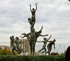 Musica,  another sculpture by Alan LeQuire--in a Nashville Roundabout