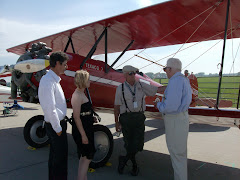 Found a group of barnstorming antique airplanes with costumed  pilots in SD.  How fun!