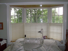 How cool are blinds that rise up from the bottom of the window? Look like curtains but they're not,