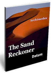 Cover page of the EBook: The Sand Reckoner, by Archimedes.