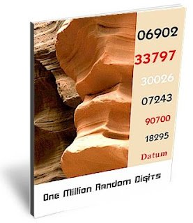 Cover page of the free E-Book: One Million Random Digits.