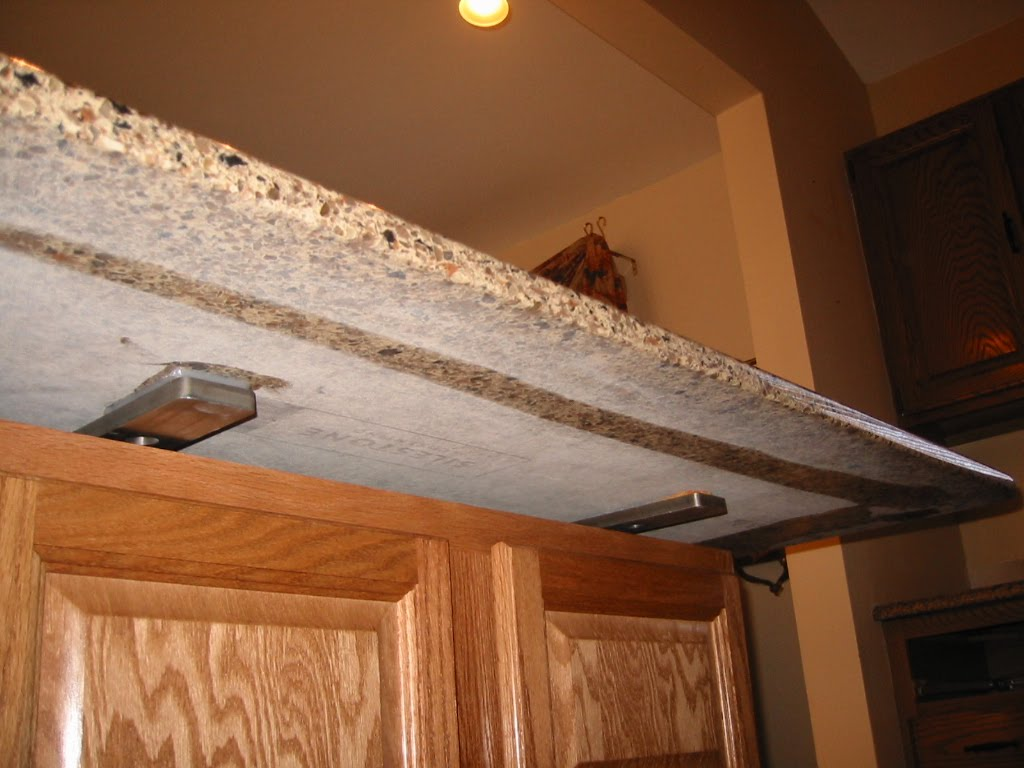When trends attack granite tile counters cupboards 2017 How to support granite overhang