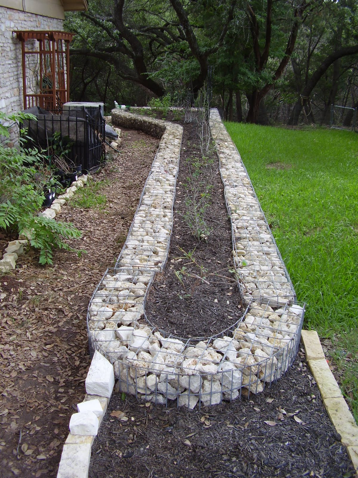 Gardening at draco gabion garden for Landscaping your garden