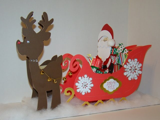 Santa Sleigh Paper Template | Search Results | Calendar 2015