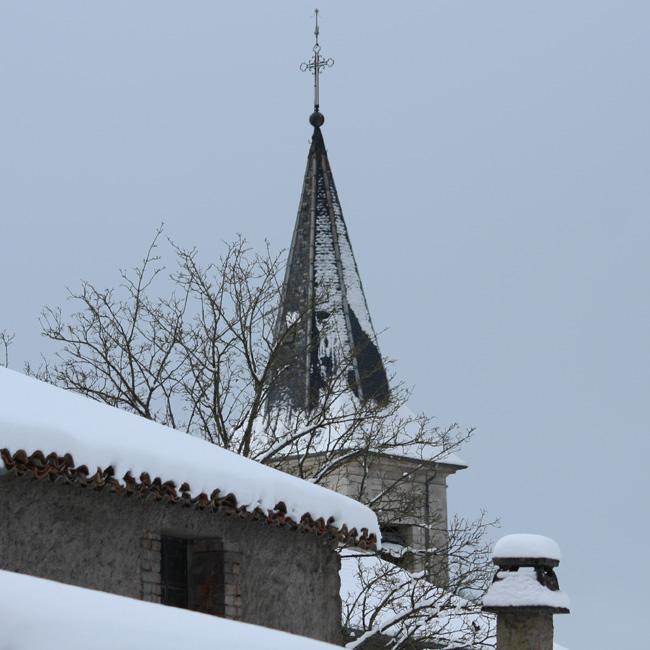 Mon village (lorrain) sous la neige 7Clocher%2B10b