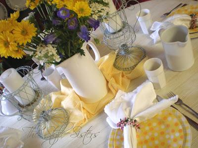 Doris day luncheon, polka dot plates