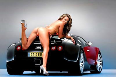 wallpaper car and sexy girl desktop