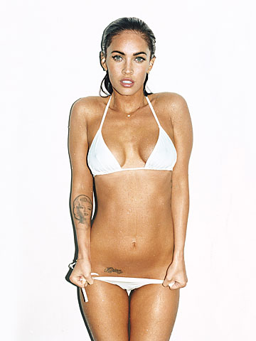 megan fox side tattoo. megan fox tattoos side
