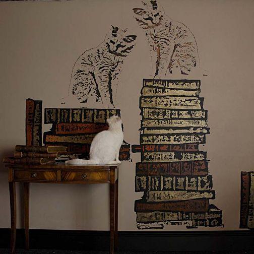 Plantillas de gatitos para decorar la pared de casa