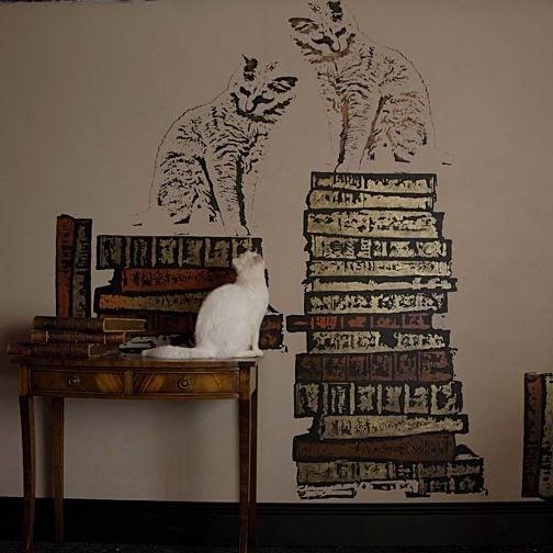Plantillas de gatitos para decorar la pared de casa - Plantillas para la pared ...