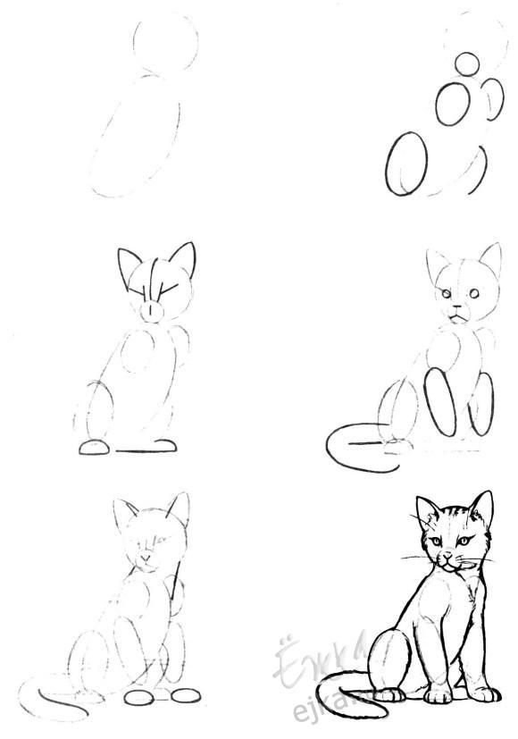 Adelante, inspírate, imita primero siguiendo los siguientes dibujos. Seguro que con el tiempo podrás olvidar modelos y dejar fluir todo tu genio.