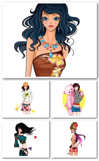 80 Beautiful Girls Drawings Wallpapers 1280x1024