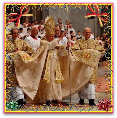 Påven har en klänning.