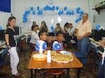 Na inauguração da SI da Escola Otávio Meira