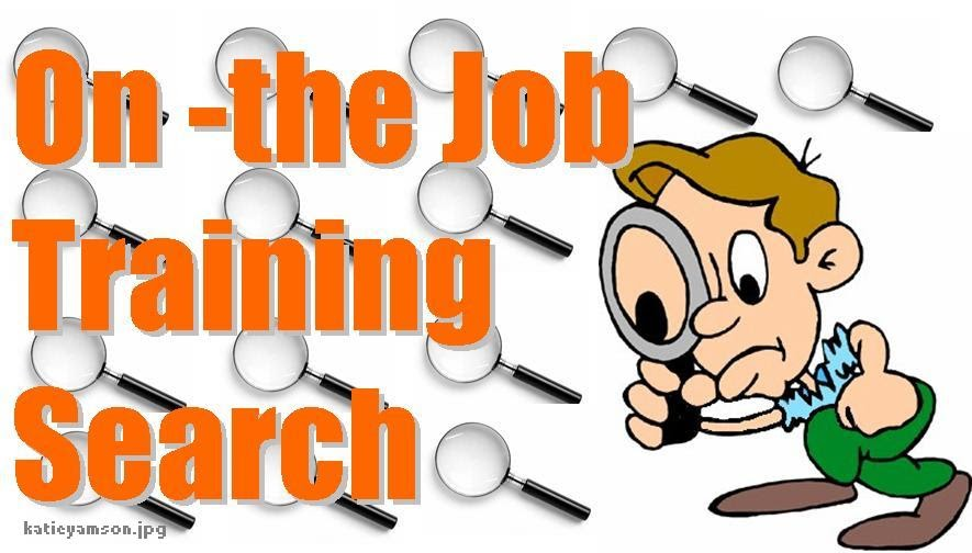 kate the blogger  on the job training hunt