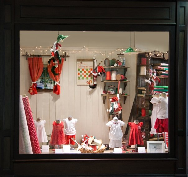 Decoracion de vidrieras comerciales para navidad