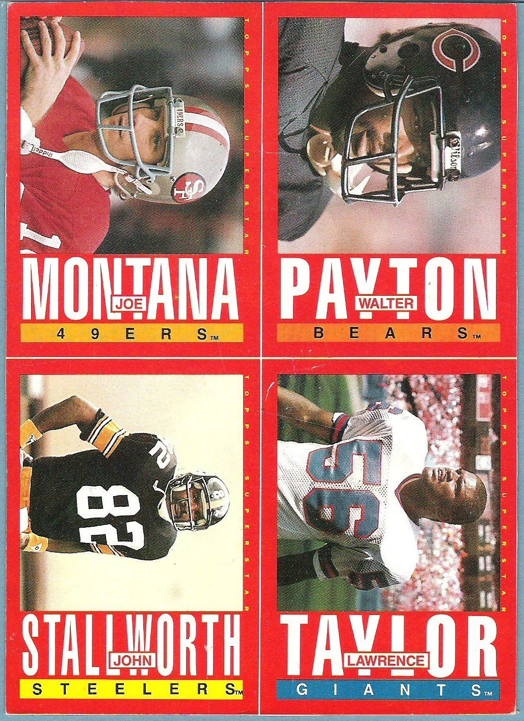 the fleer sticker project 1985 topps football box bottom panels
