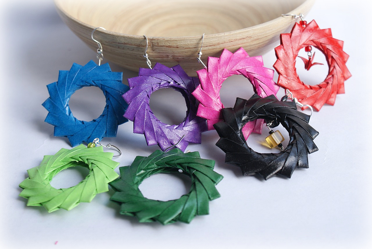 Favoloso Mille gru di carta: Origami earRings (Part two) IW97
