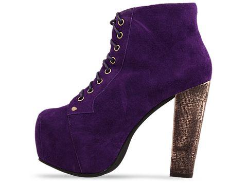 Jeffrey Campbell shoes Lita Purple Suede