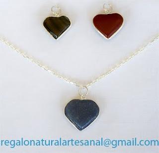 colgantes corazones