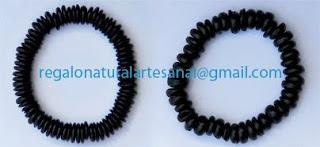 pulsera de discos de coco elastica
