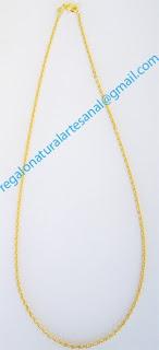 cadena chapado oro