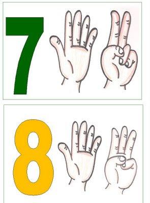 7,8 Números para montar cartaz para crianças