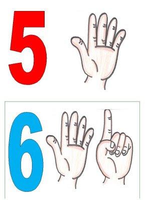 5,6 Números para montar cartaz para crianças
